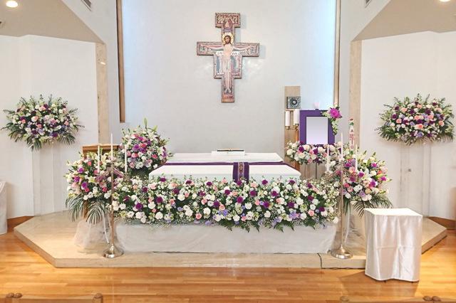生花飾り(棺横安置)②